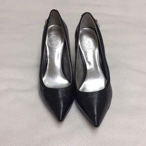 Jessica Simpson Dark Navy side zipper heels